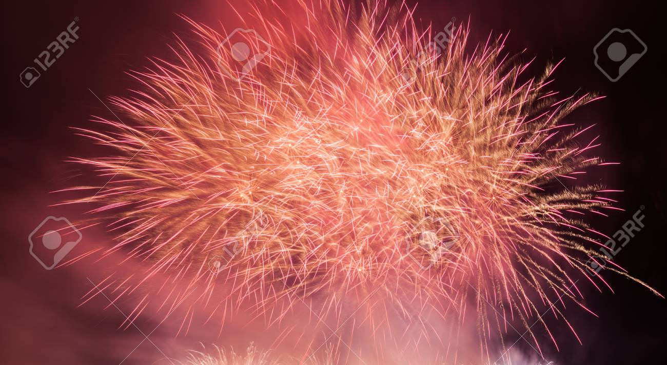 spectacular fireworks show light up the sky new year celebration background stock photo 63695551