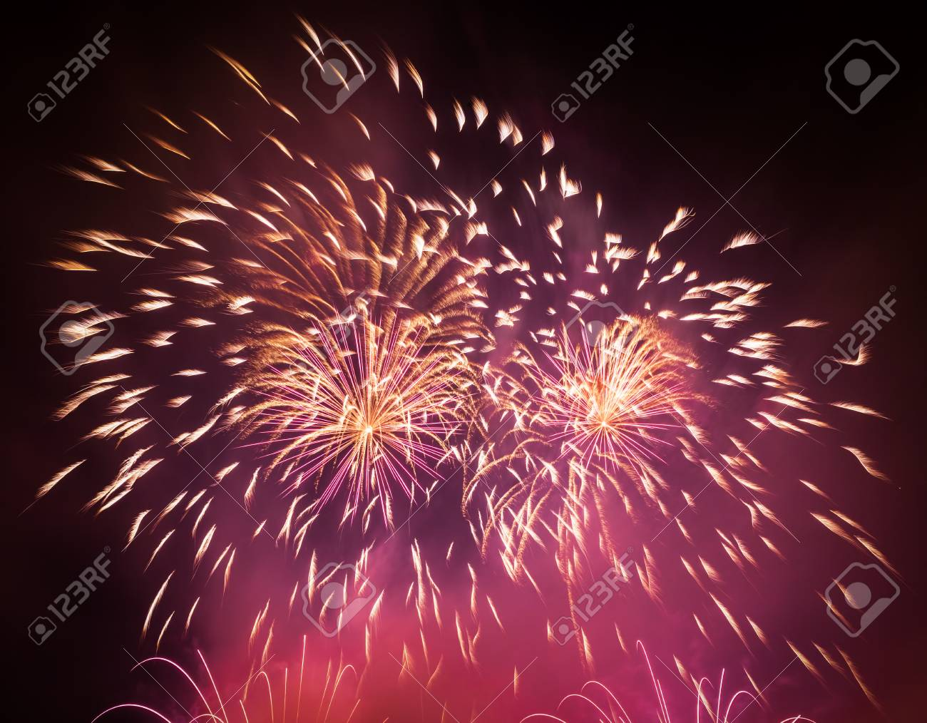 spectacular fireworks show light up the sky new year celebration background stock photo 63775249