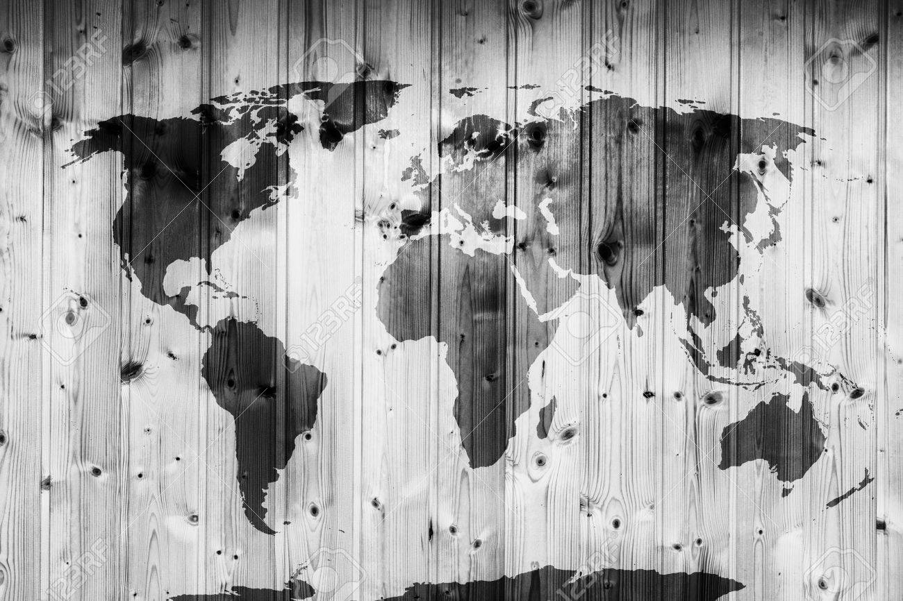 World map on wooden wall retro wood planks vintage stock photo stock photo world map on wooden wall retro wood planks vintage gumiabroncs Images