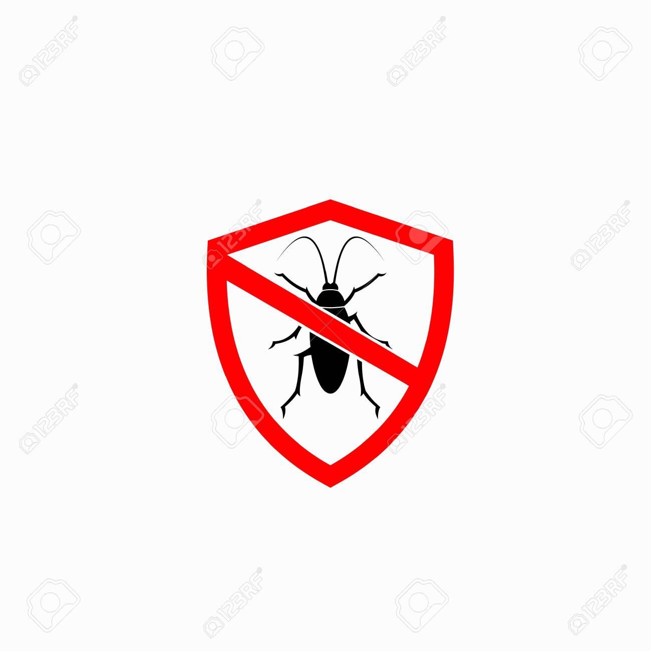 Cockroach logo accompanied shield concept - 143873841