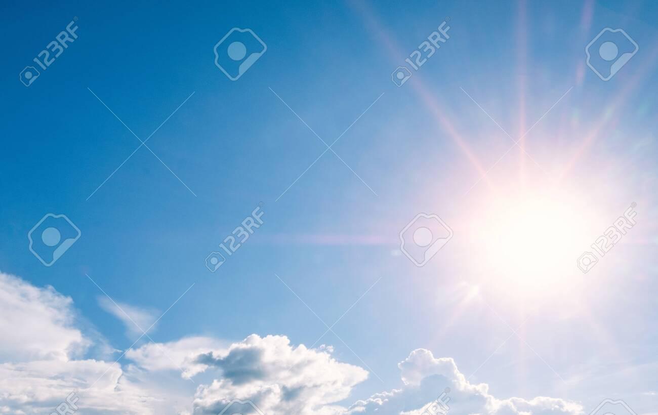 beautiful sky with sunbeams and cloud - 121564633