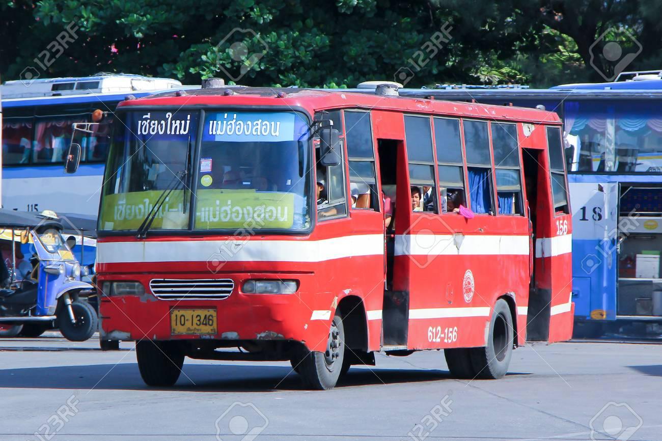 chiangmai, thaÏlande - 13 mai 2014: la société prempracha minibus no