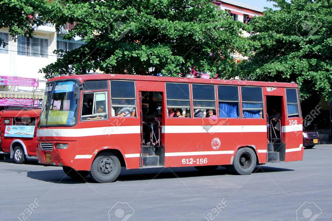 chiangmai, thailand - may 13 2014: prempracha company minibus