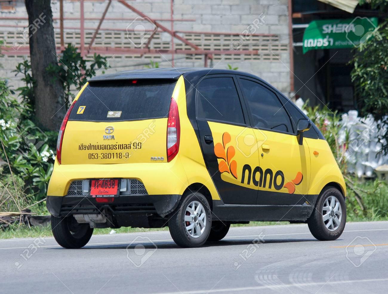 Design of tata nano car - Chiangmai Thailand June 4 2015 Private Tata Nano Car Photo At Road No