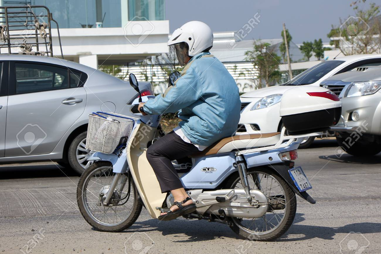 CHIANGMAI THAILAND FEBRUARY 5 2015 Private Motorcycle Retro Style Honda Super