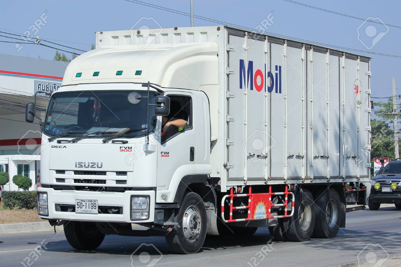 Chiangmai Thailand December 26 2015 Container Truck Of Mobil