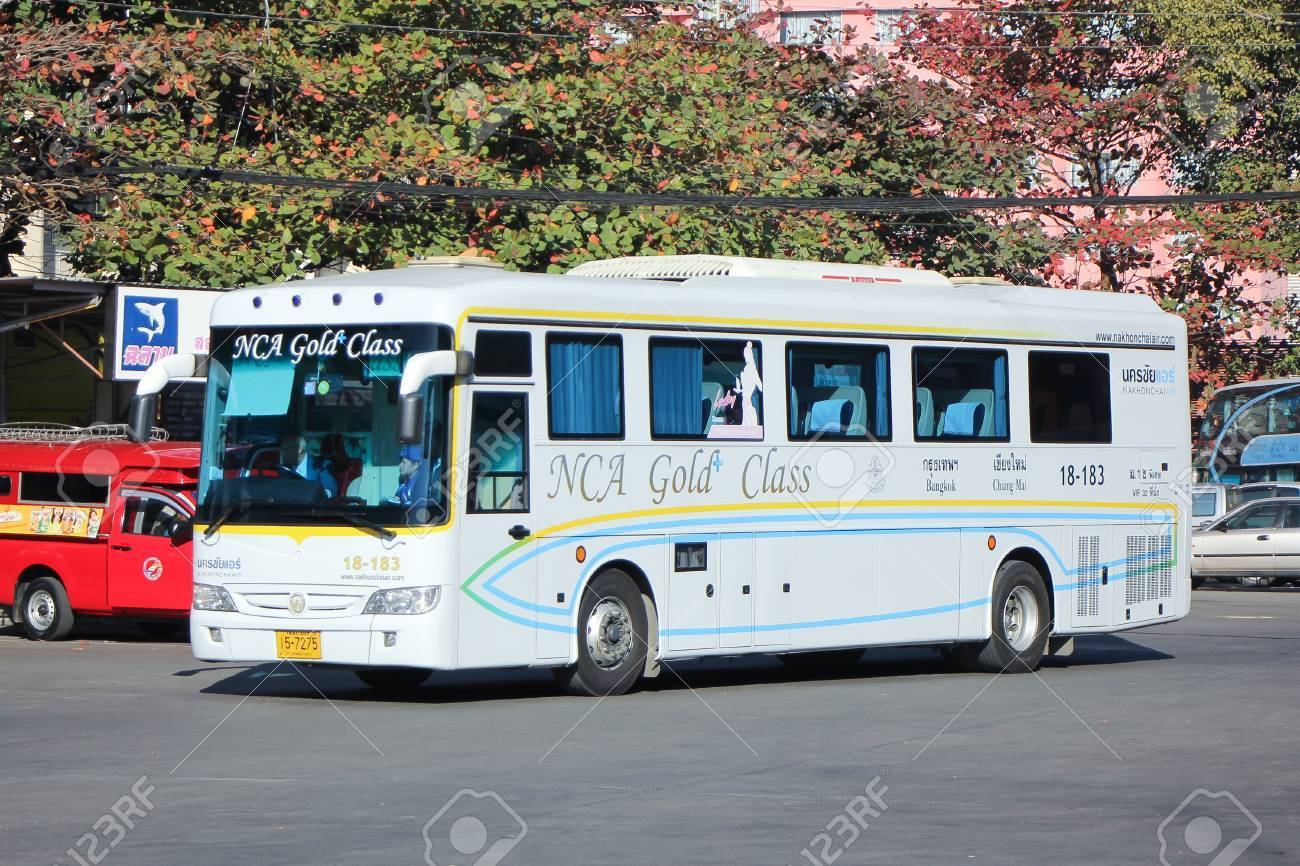 CHIANGMAI, THAILAND -JANUARY 23 2016: Mercedes benz bus of