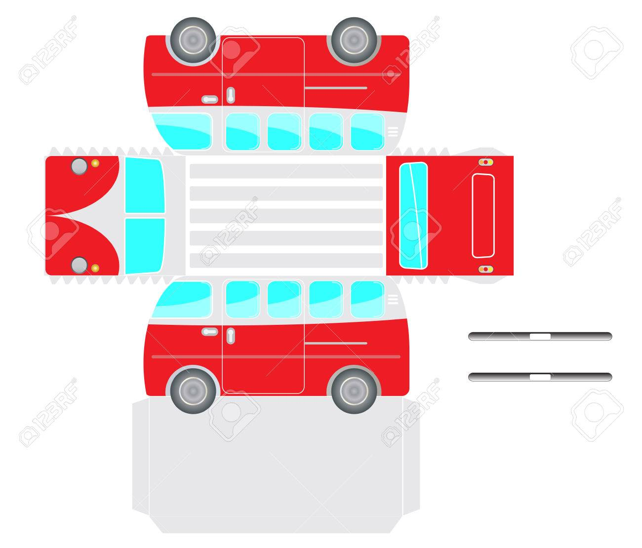 Vintage Van bus outline,Print to Paper , cut out and glue into