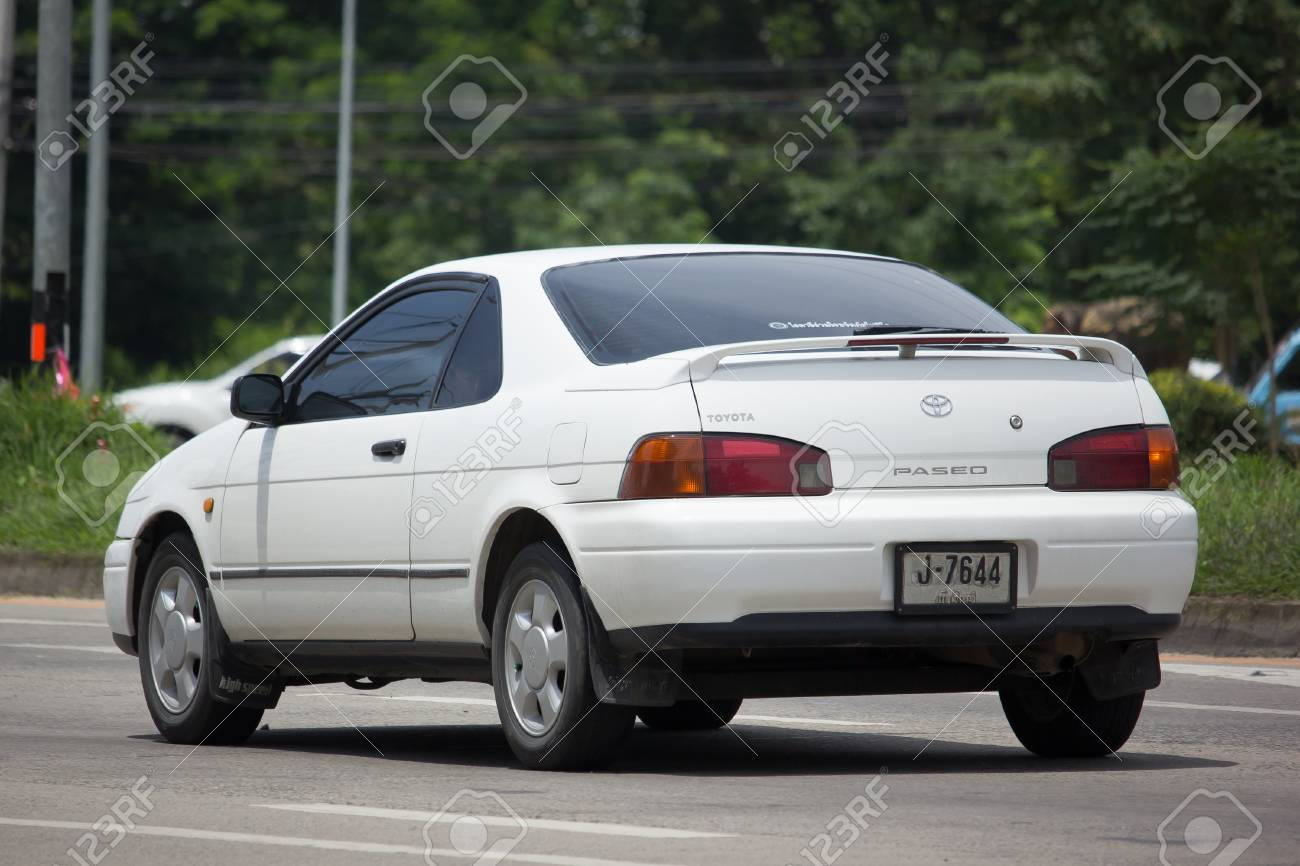 CHIANG MAI, THAILAND   JULY 28 2017: Private Sport Car Toyota Paseo. On