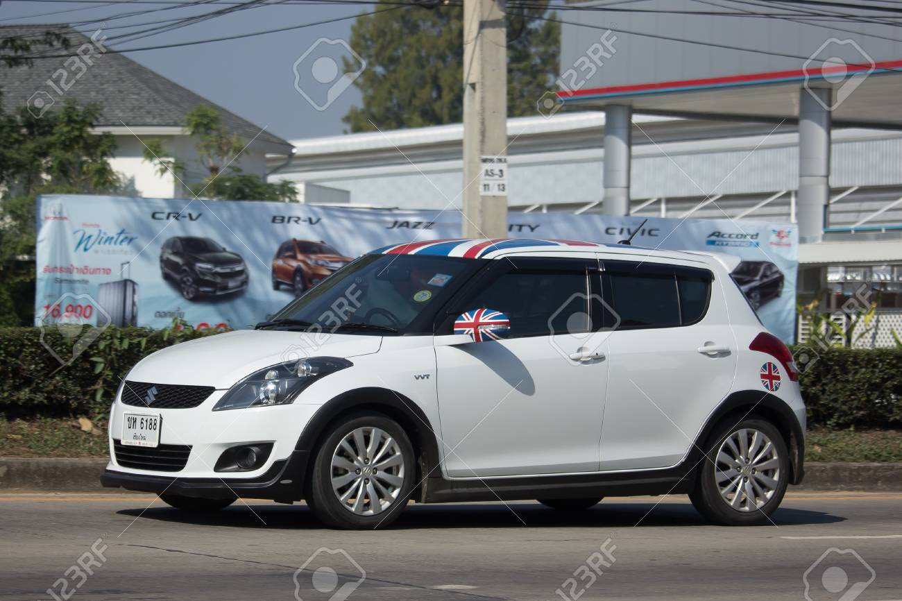 Chiang Mai Thailand January 9 2018 Private Eco City Car Suzuki