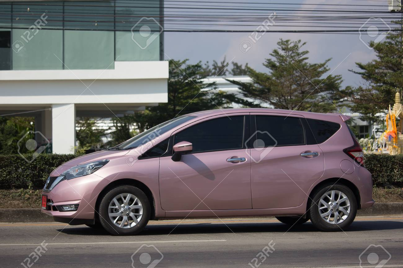 chiang mai, thailand -january 16 2018: private new eco car nissan