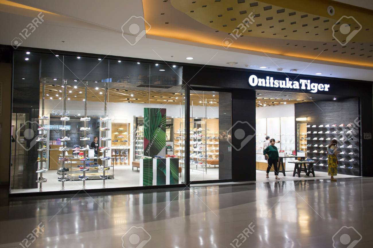 best loved 7b64b 73f63 CHIANG MAI, THAILAND - APRIL 16 2018: Onitsuka Tiger Shop. Shop..