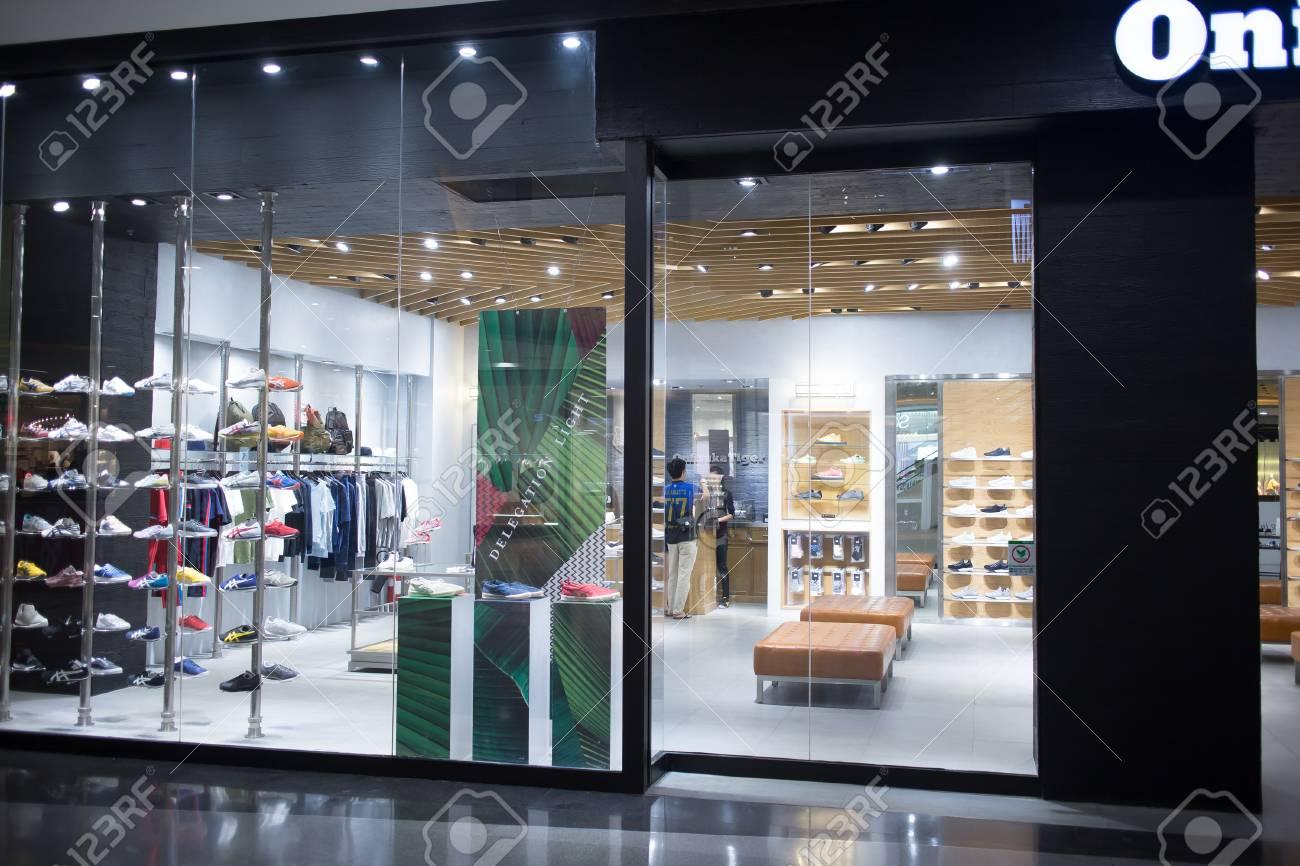 Onitsuka Tiger Shop. Shop.. Stock Photo
