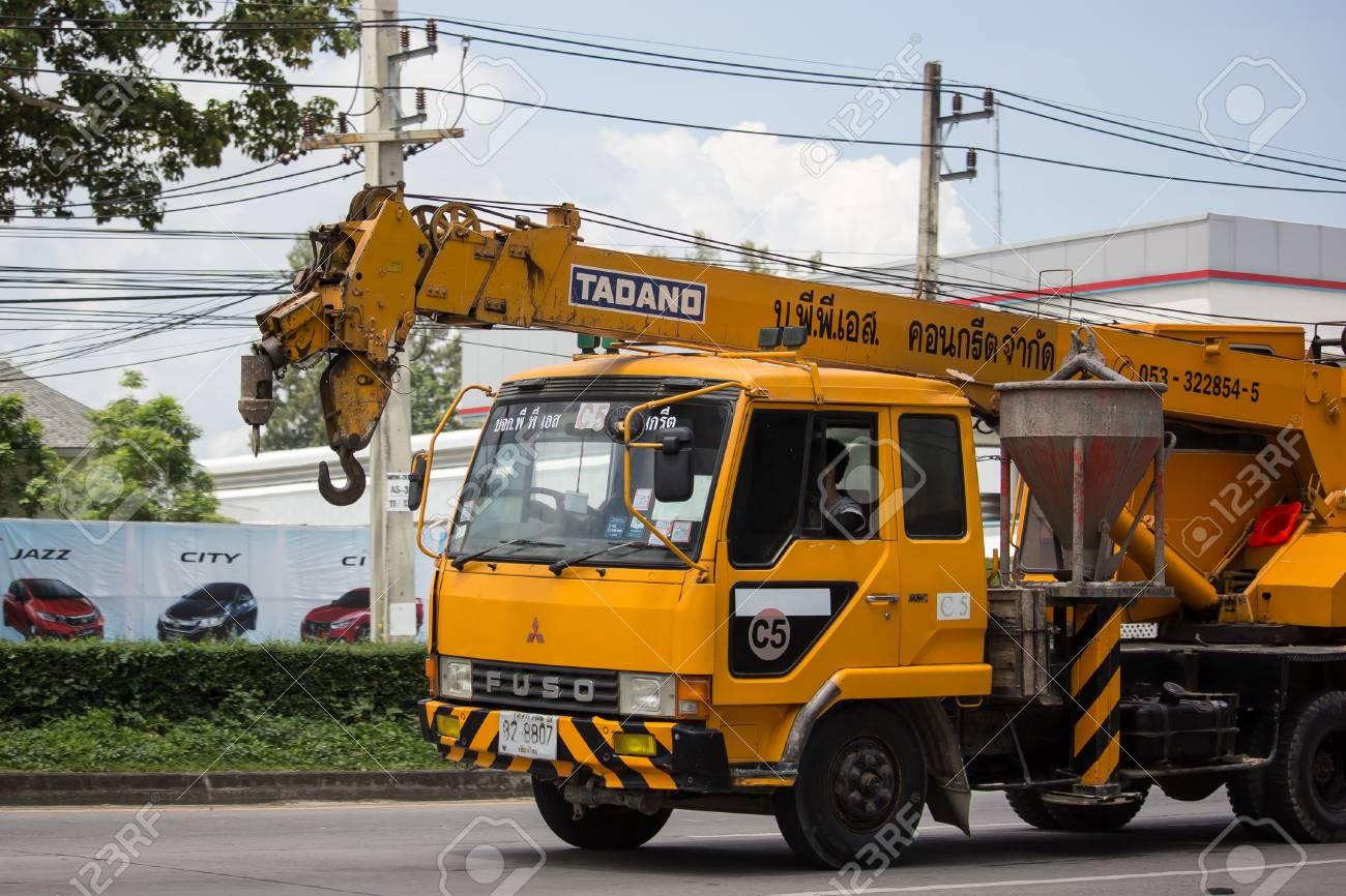 Chiangmai, Thailand - September 11 2018: TADANO Crane Truck of