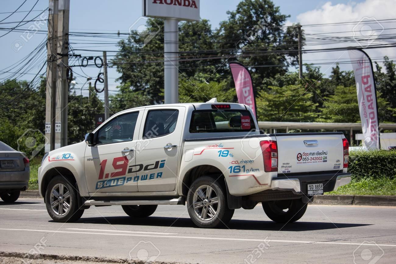 chiangmai, thailand - september 21 2018: private isuzu dmax pickup