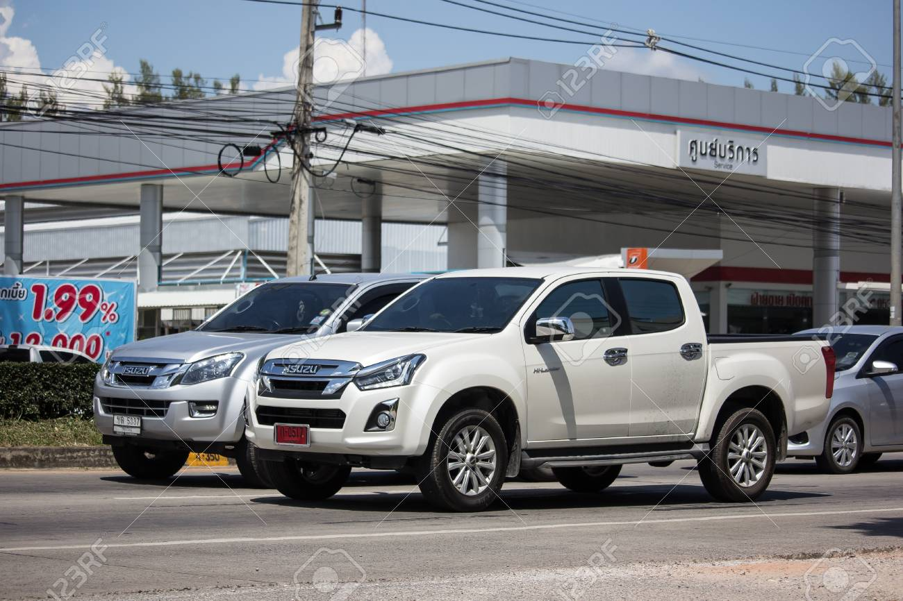 chiangmai, thailand - september 27 2018: private isuzu dmax pickup