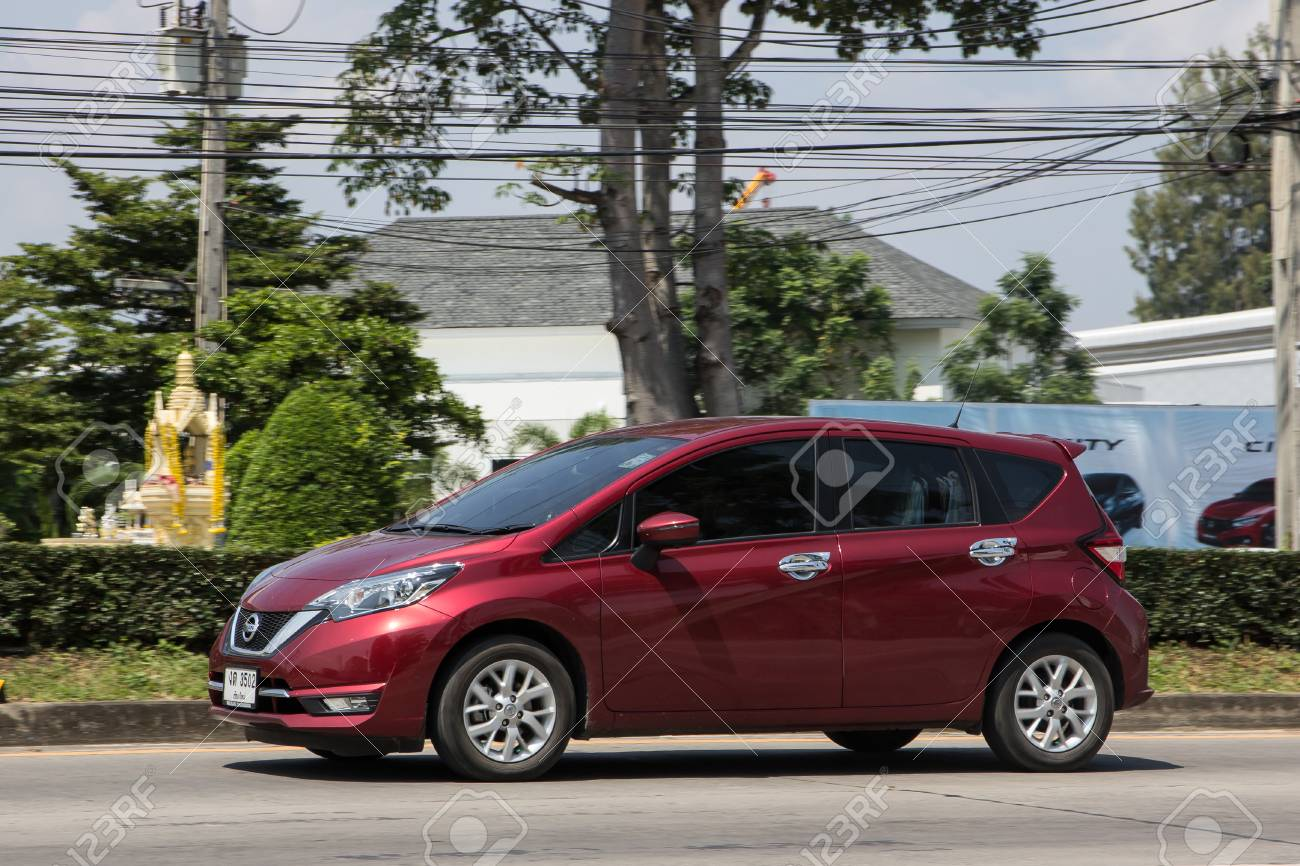 chiangmai, thailand - october 5 2018: private new eco car nissan