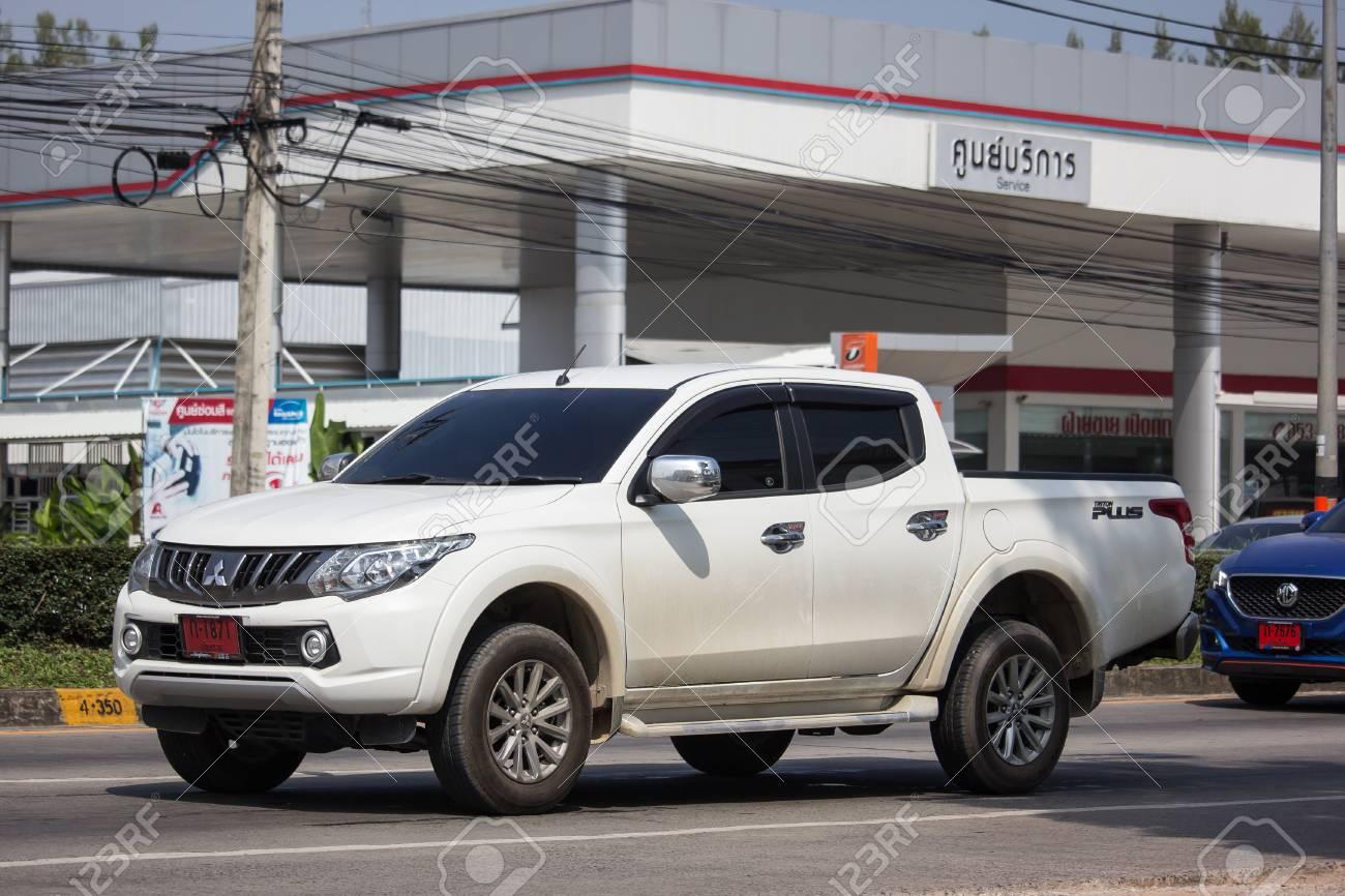 Chiangmai, Thailand - October 8 2018: Private car, Mitsubishi