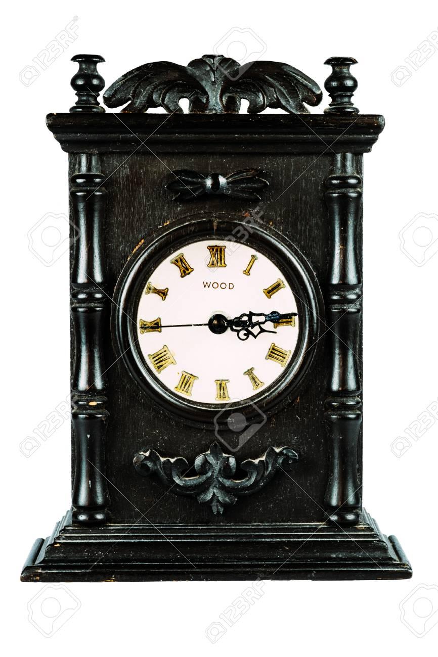 Antieke Klok Op Geisoleerde Witte Backgound Vintage Decoratie Antieke Decoratie Royalty Vrije Foto Plaatjes Beelden En Stock Fotografie Image 53041722