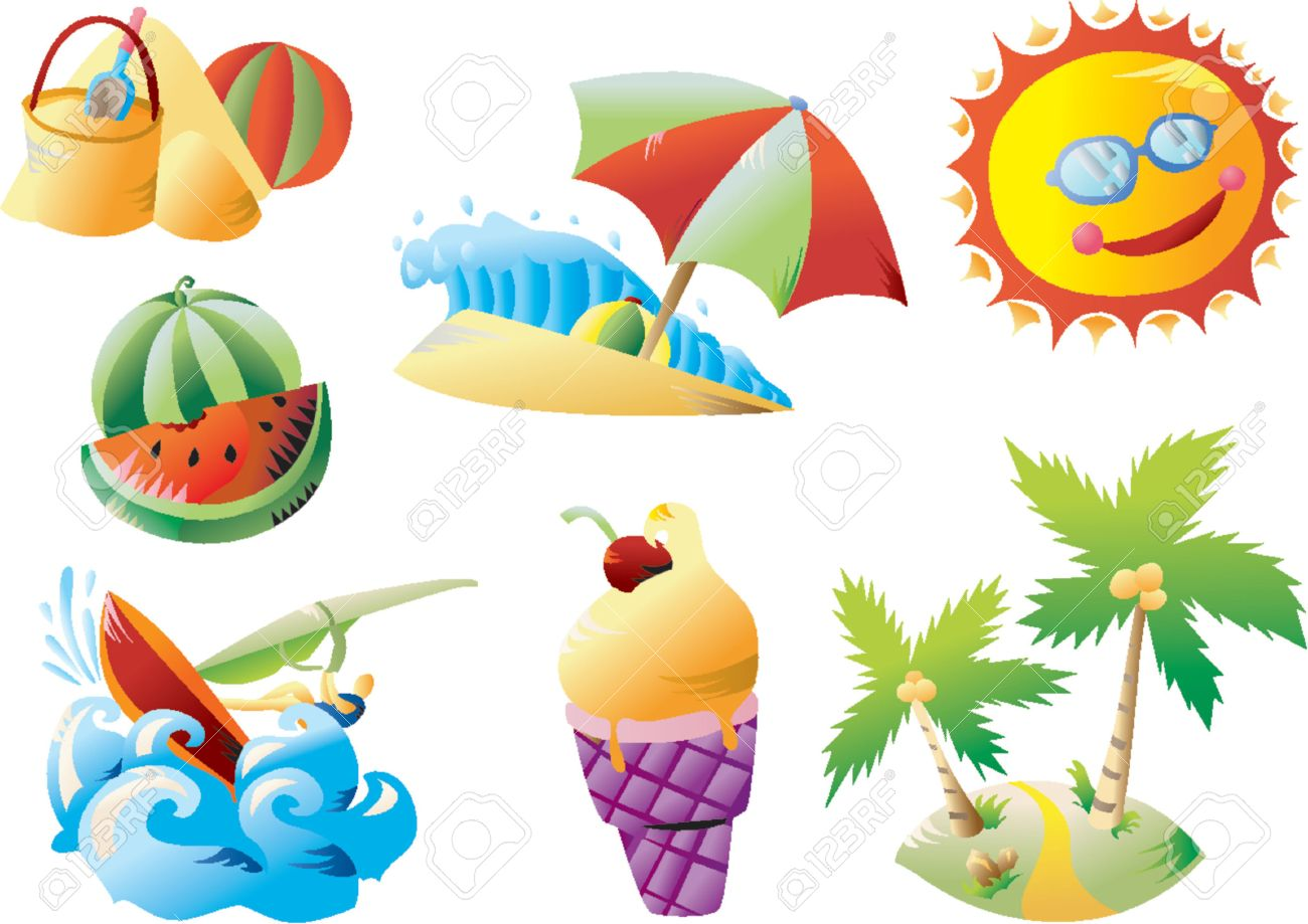 Summer Beach Clip-art Stock Vector - 1156229