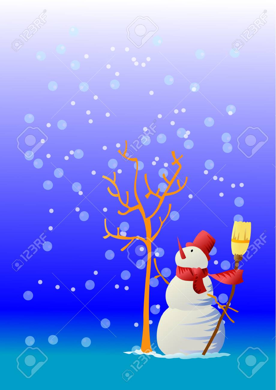 The hopeful snowman Stock Vector - 1858178