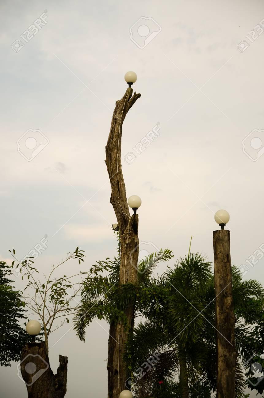 gartenlampen in der Öffentlichkeit landschaften thailand lizenzfreie