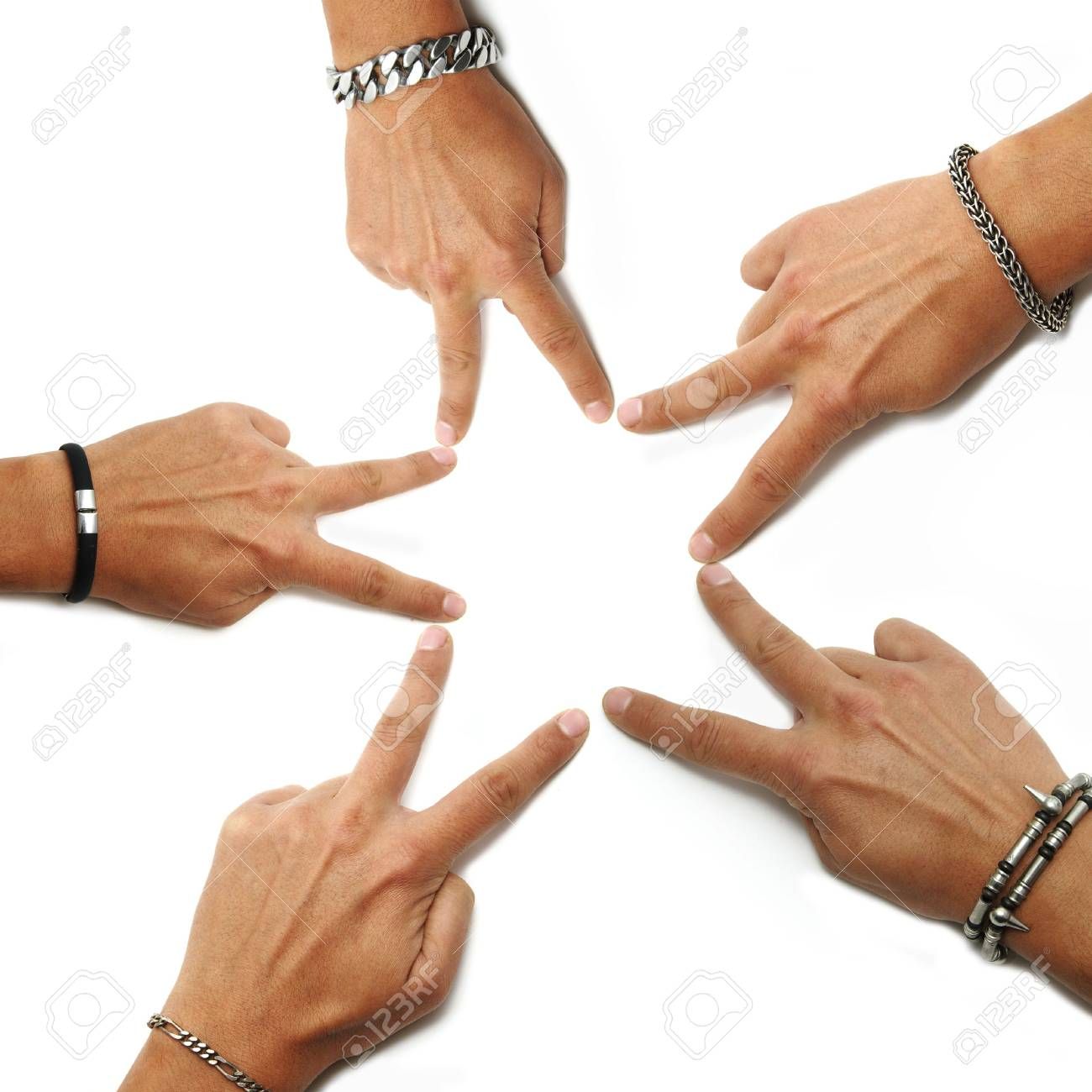 hands drawing a star on a white background Stock Photo - 6108247