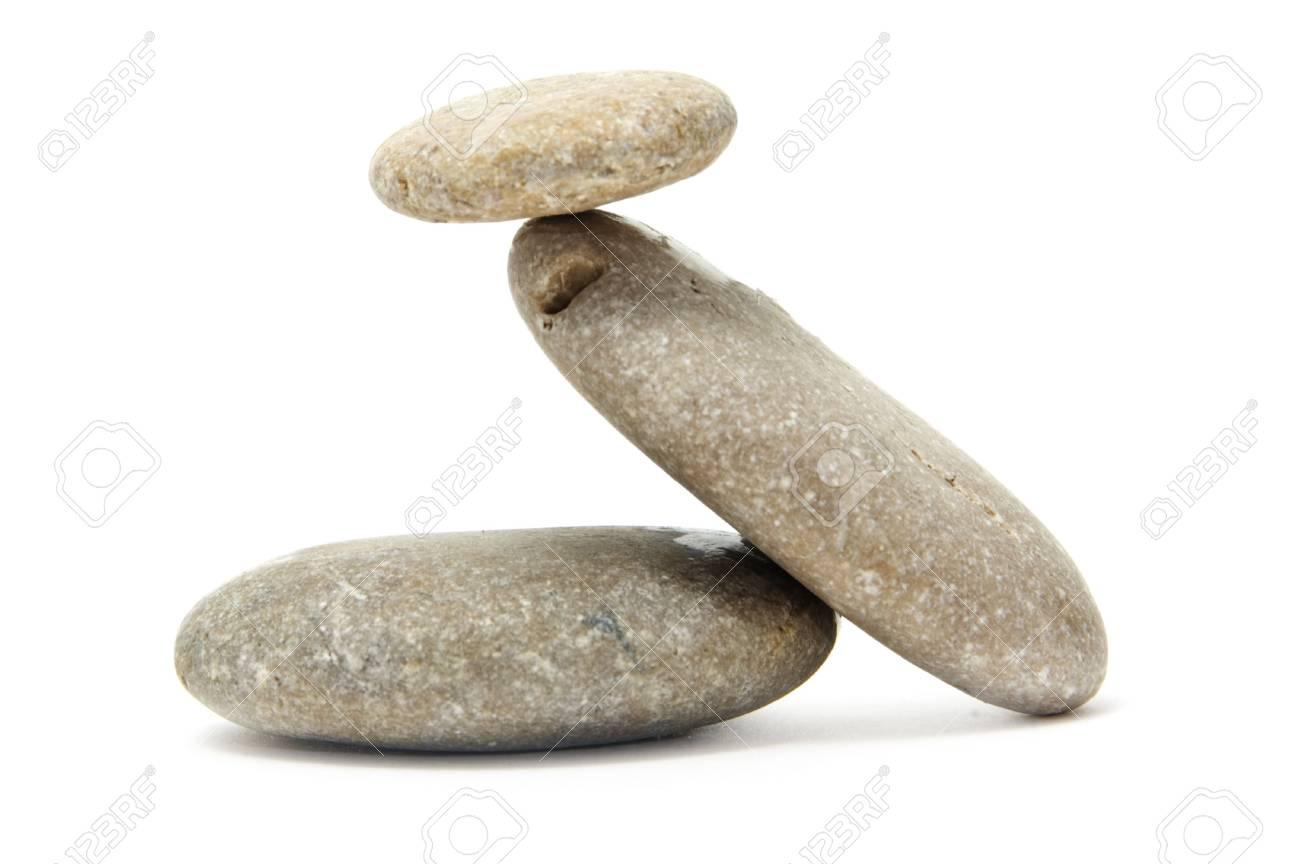 a zen stones on a white background Stock Photo - 6183543