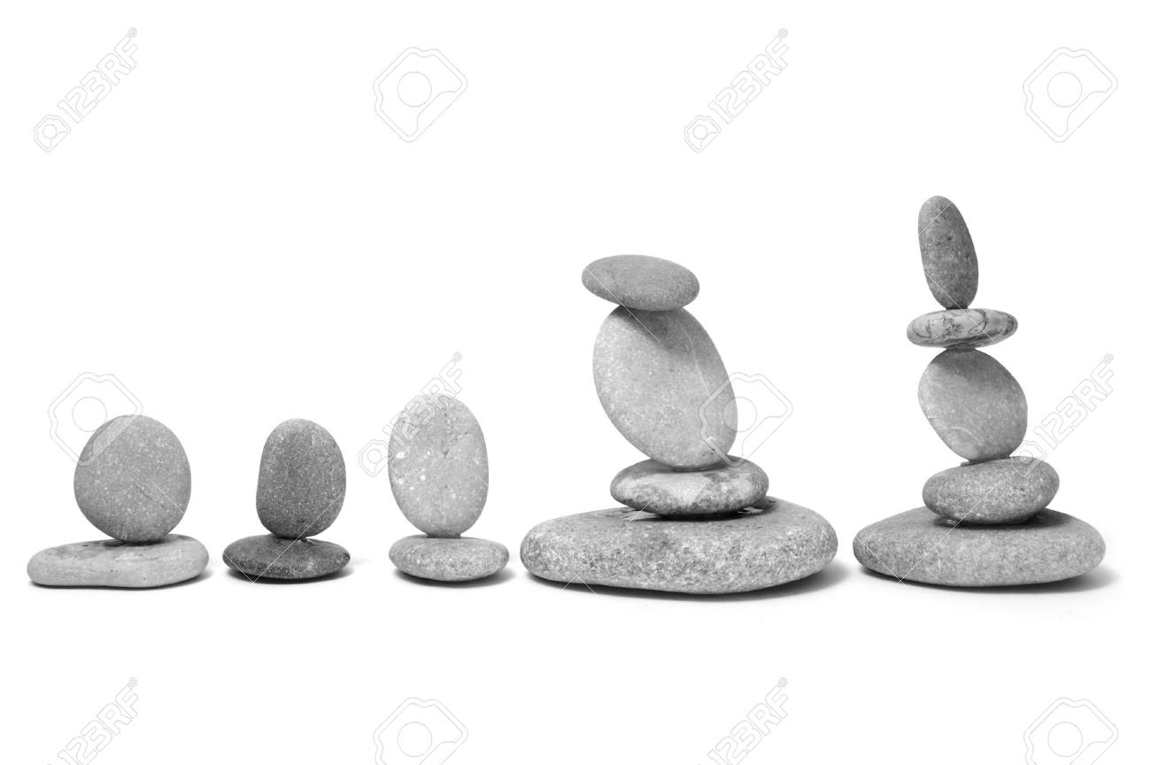 a zen stones on a white background Stock Photo - 6219072