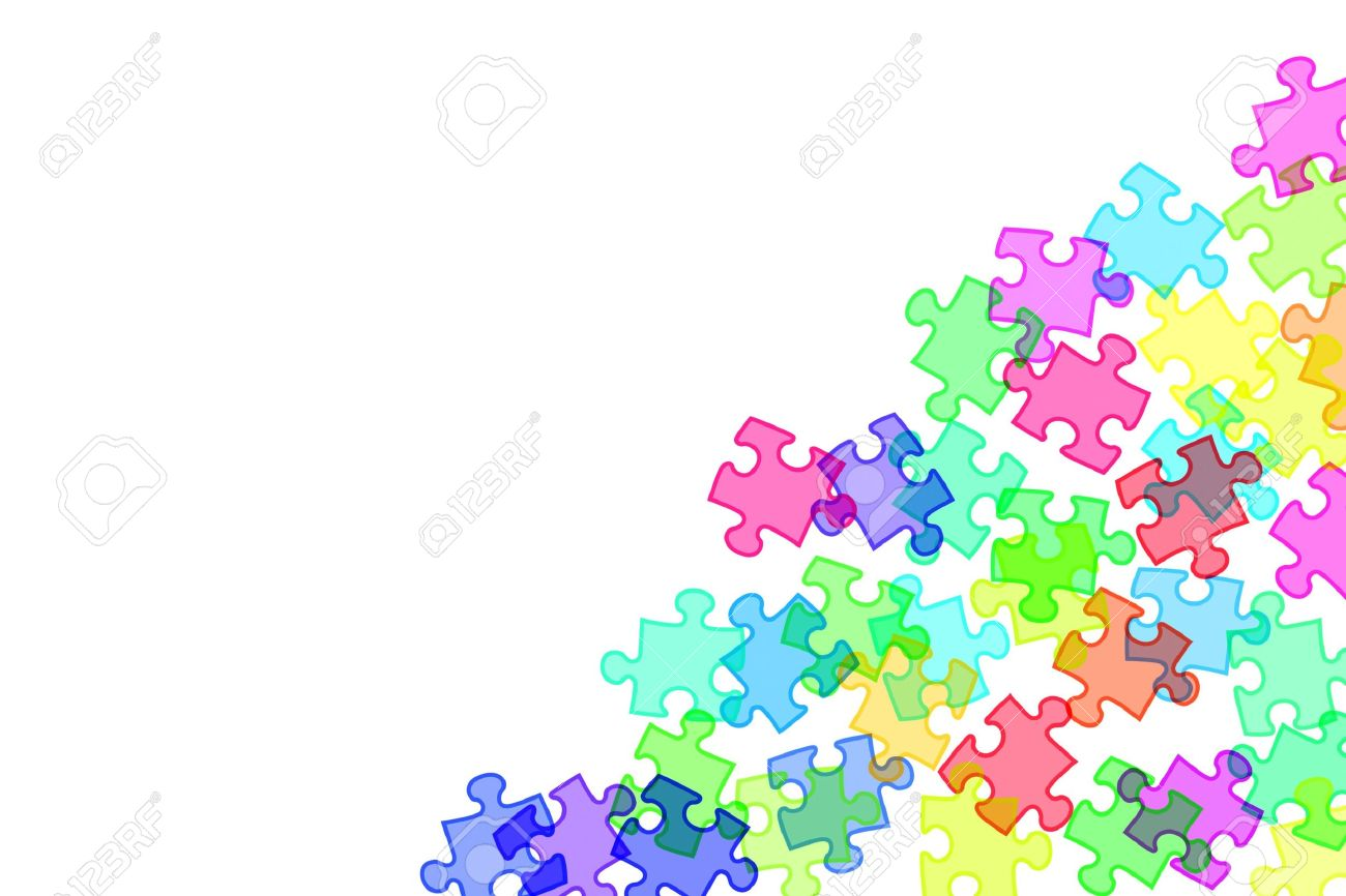 Background Of Illustration Puzzle Pieces Different Colors Stock