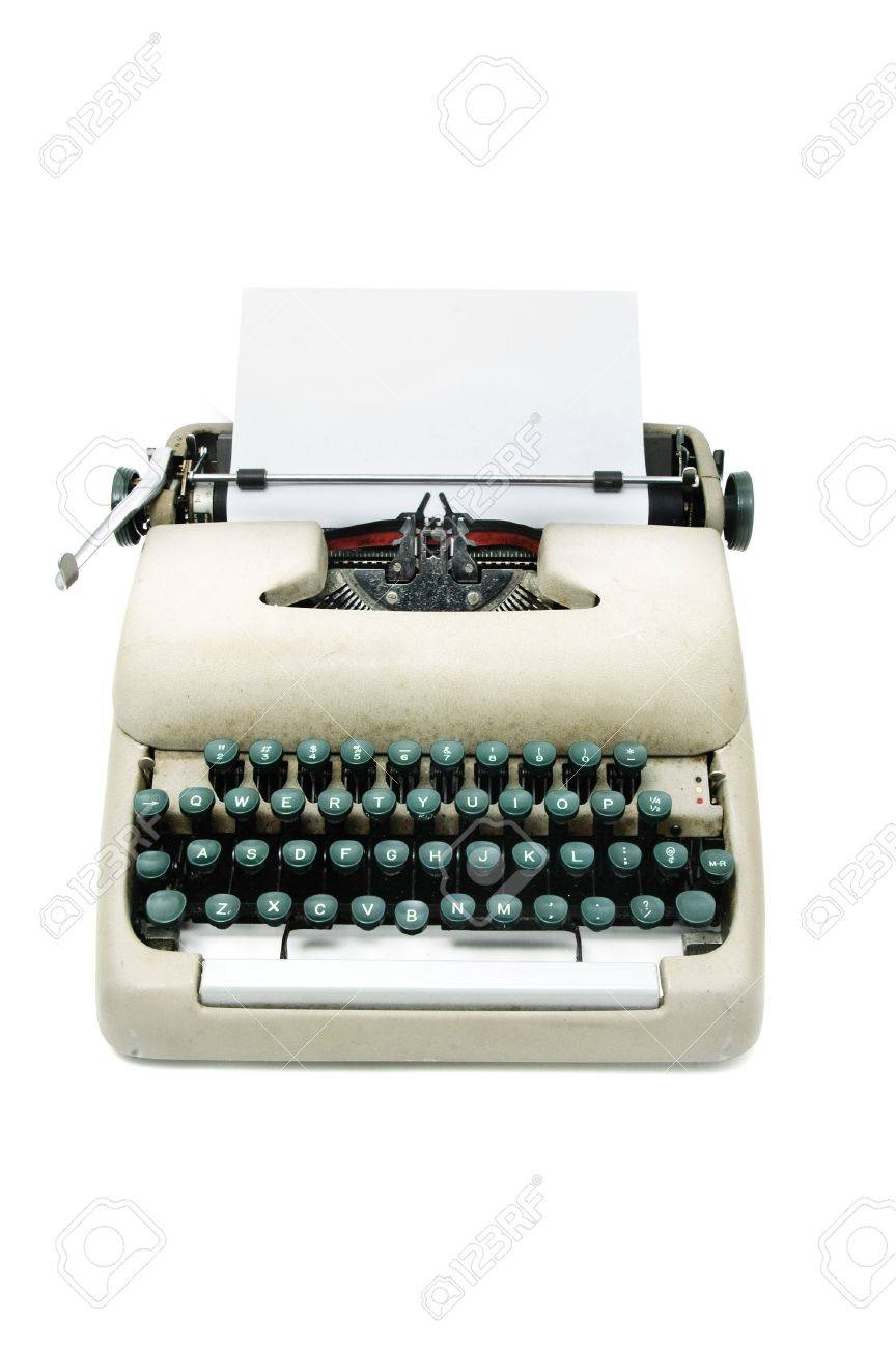 an ancient typewriter isolated on a white background Stock Photo - 7087248