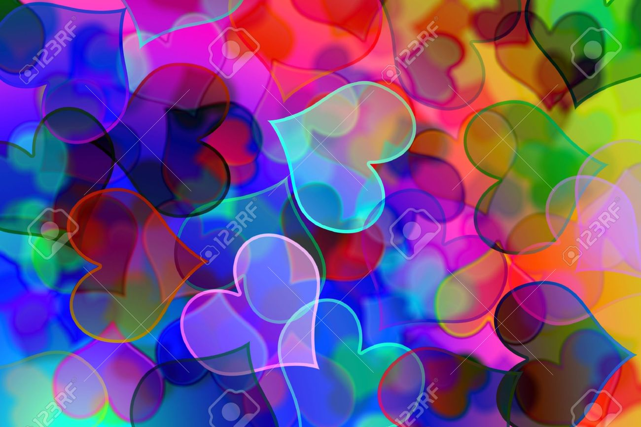 575072120d1ca background of many hearts of different colors and sizes Stock Photo -  7162769