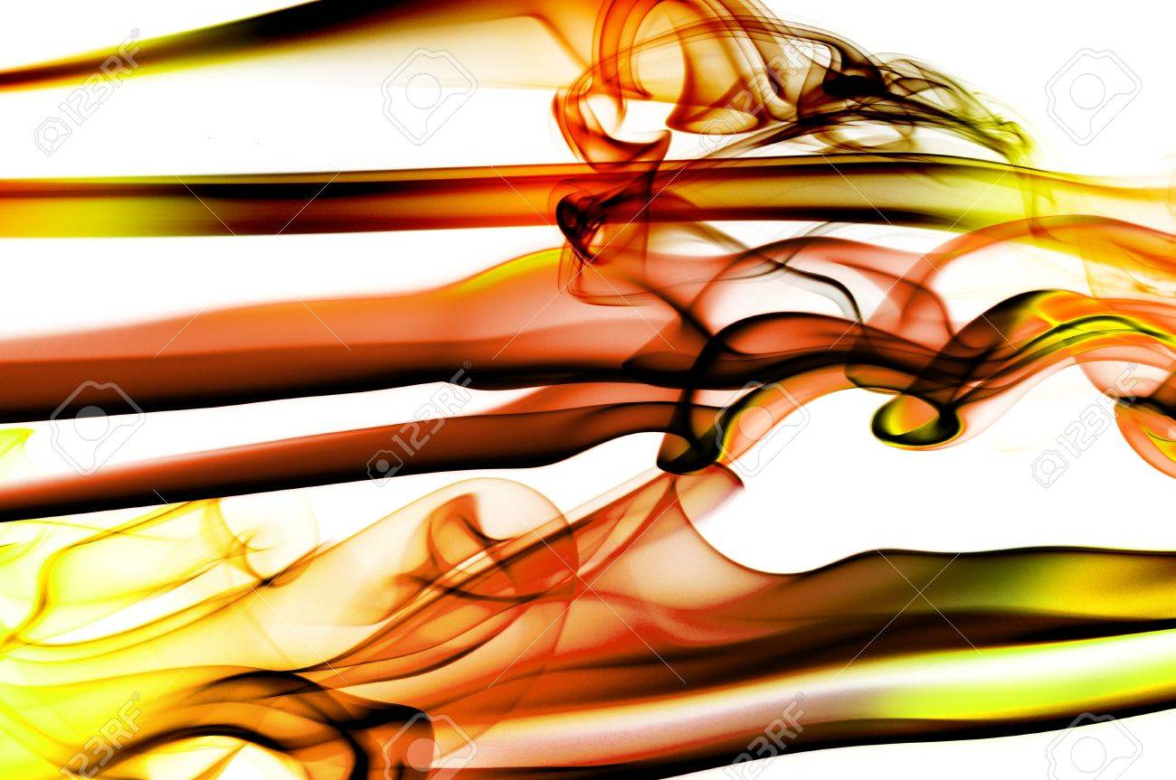 red fire flames on a white background Stock Photo - 7456052