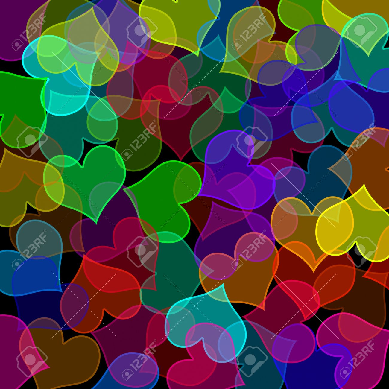 86a3fb6c06517 background of many hearts of different colors and sizes Stock Photo -  7472798