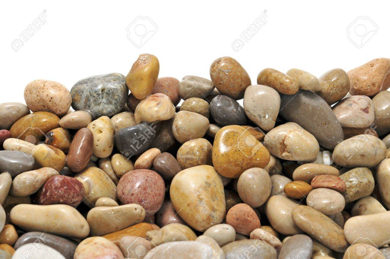 a pile of pebbles isolated on a white background Stock Photo - 7862296