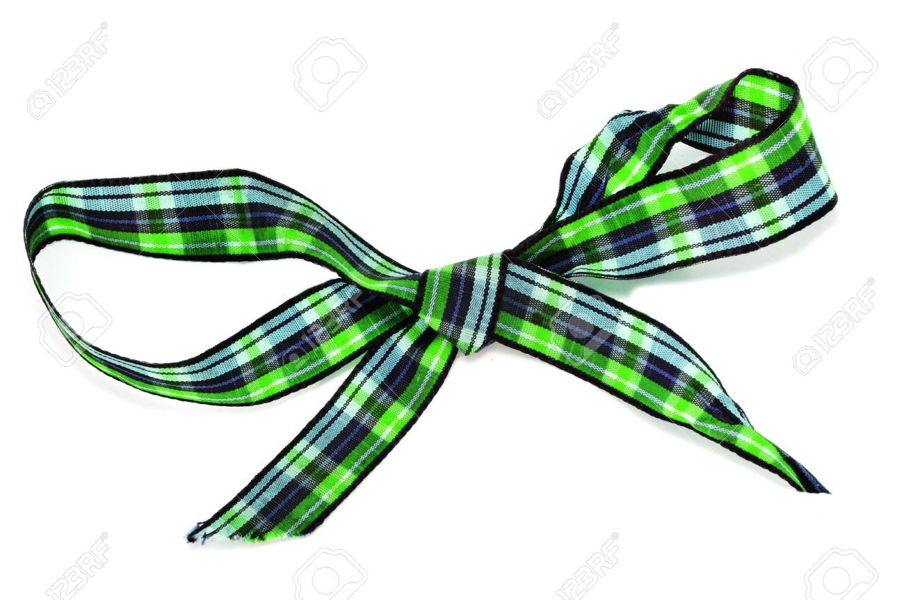 a gift ribbon bow isolated on a white background Stock Photo - 8162153