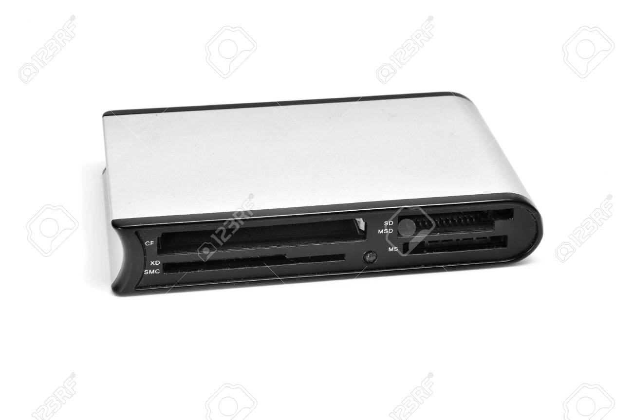 a multiple memory card reader isolated on a white background Stock Photo - 8517394