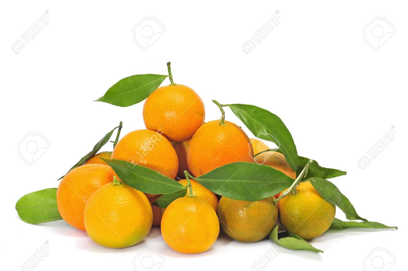 a pile of tangerines isolated on a white background Stock Photo - 8708541
