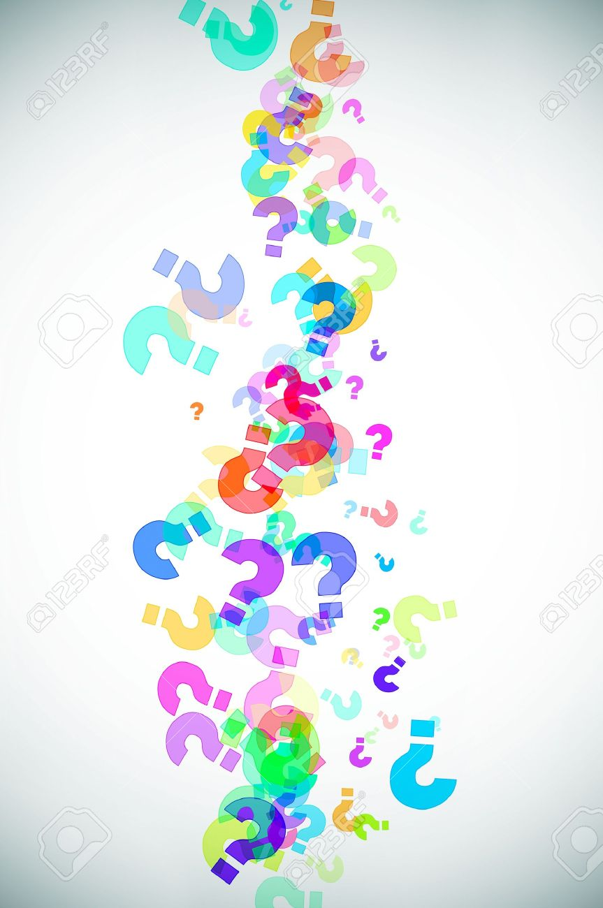 Magazine word background stock photography image 12291482 - Colorful Question Marks Background