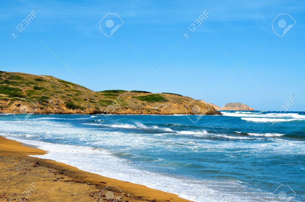 view of Binimela beach in Menorca, Balearic Islands, Spain Stock Photo - 9430815
