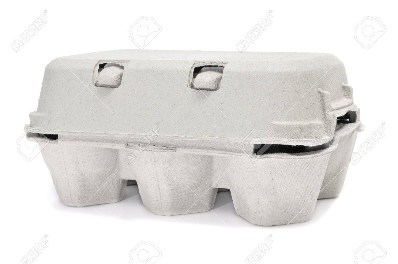 eggs in an egg carton on a white background Stock Photo - 9889089