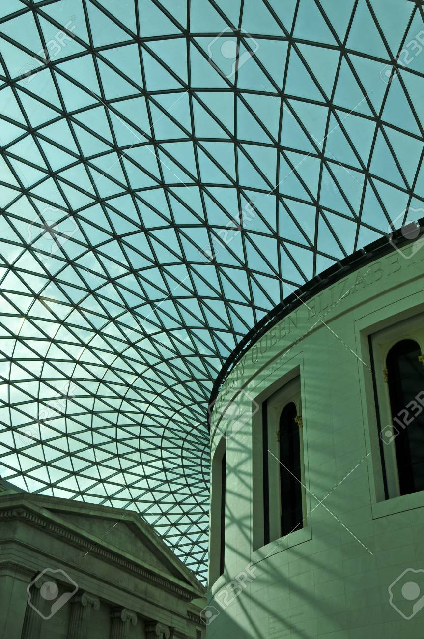 London, United Kingdom -  May 8, 2011: Great Court of British Museum in London, United Kingdom. The Great Court is the largest covered square in Europe. Stock Photo - 10007380