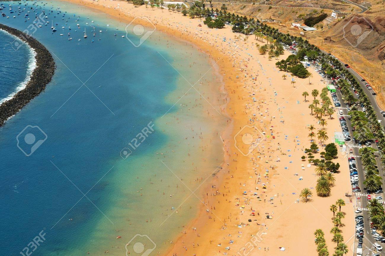 Aerial view of Teresitas Beach in Tenerife, Canary Islands, Spain - 10143795