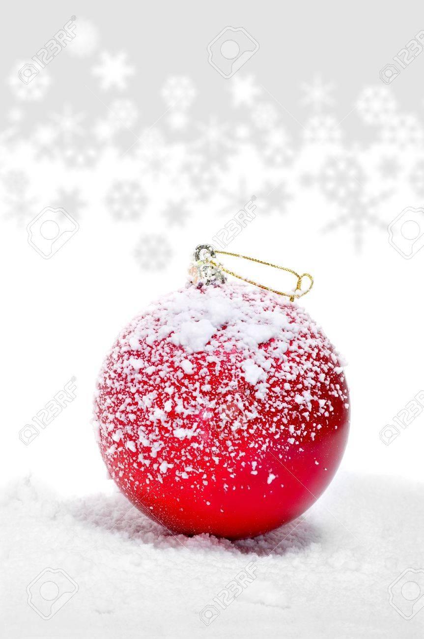 red christmas ball on the snow - 11232006