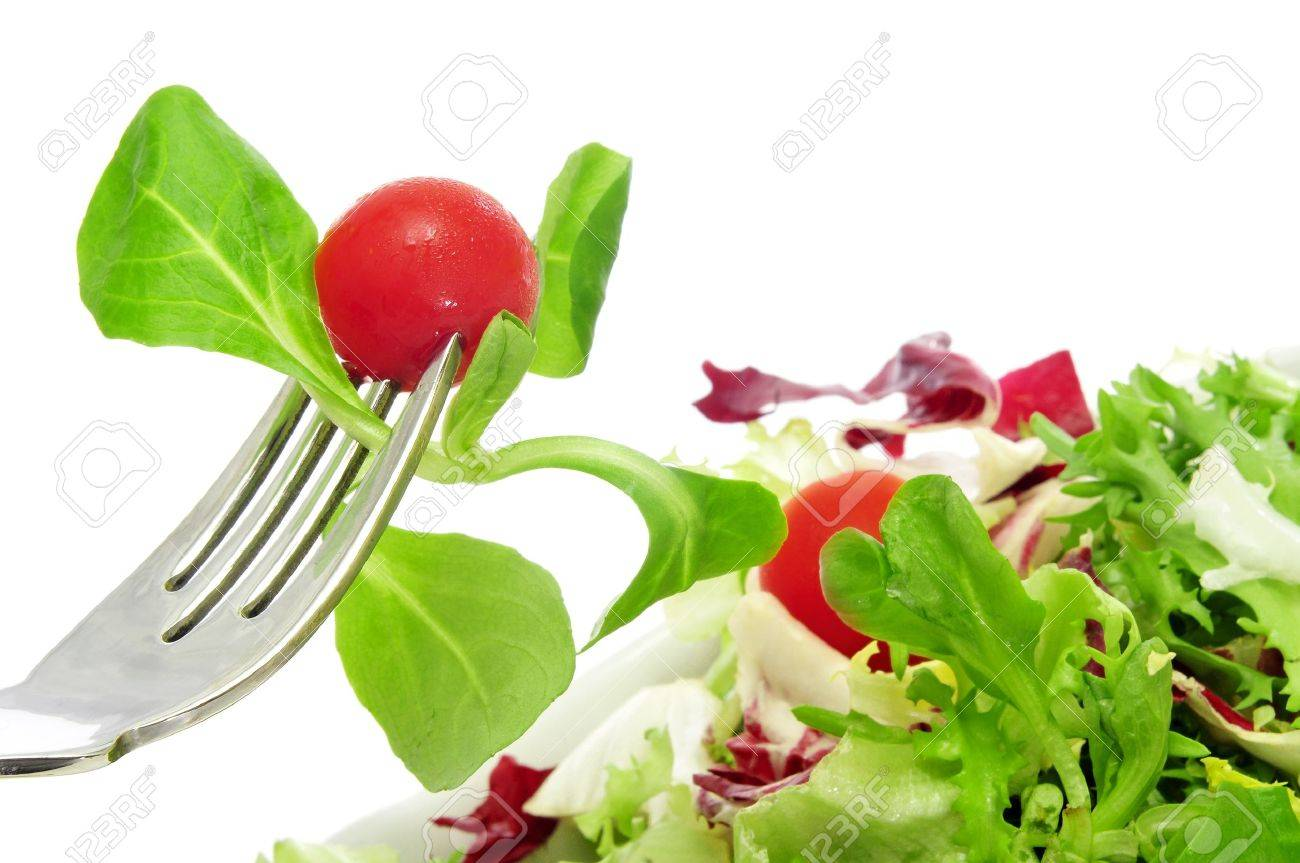 closeup of a plate of salad with cherry tomatoes Stock Photo - 12062151
