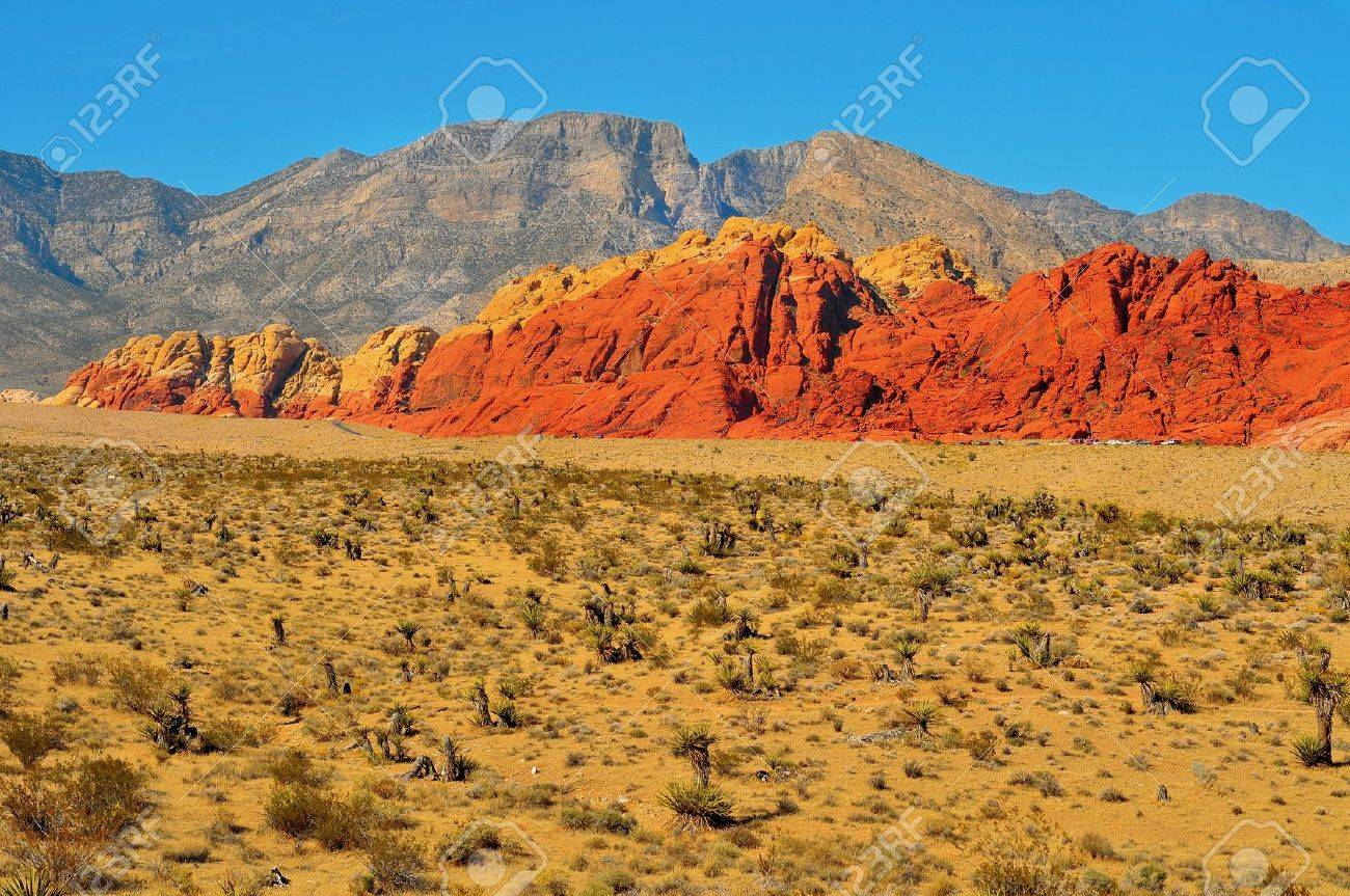 sandstone landscape in Red Rock Canyon National Conservation Area, Nevada, United States Stock Photo - 12210939