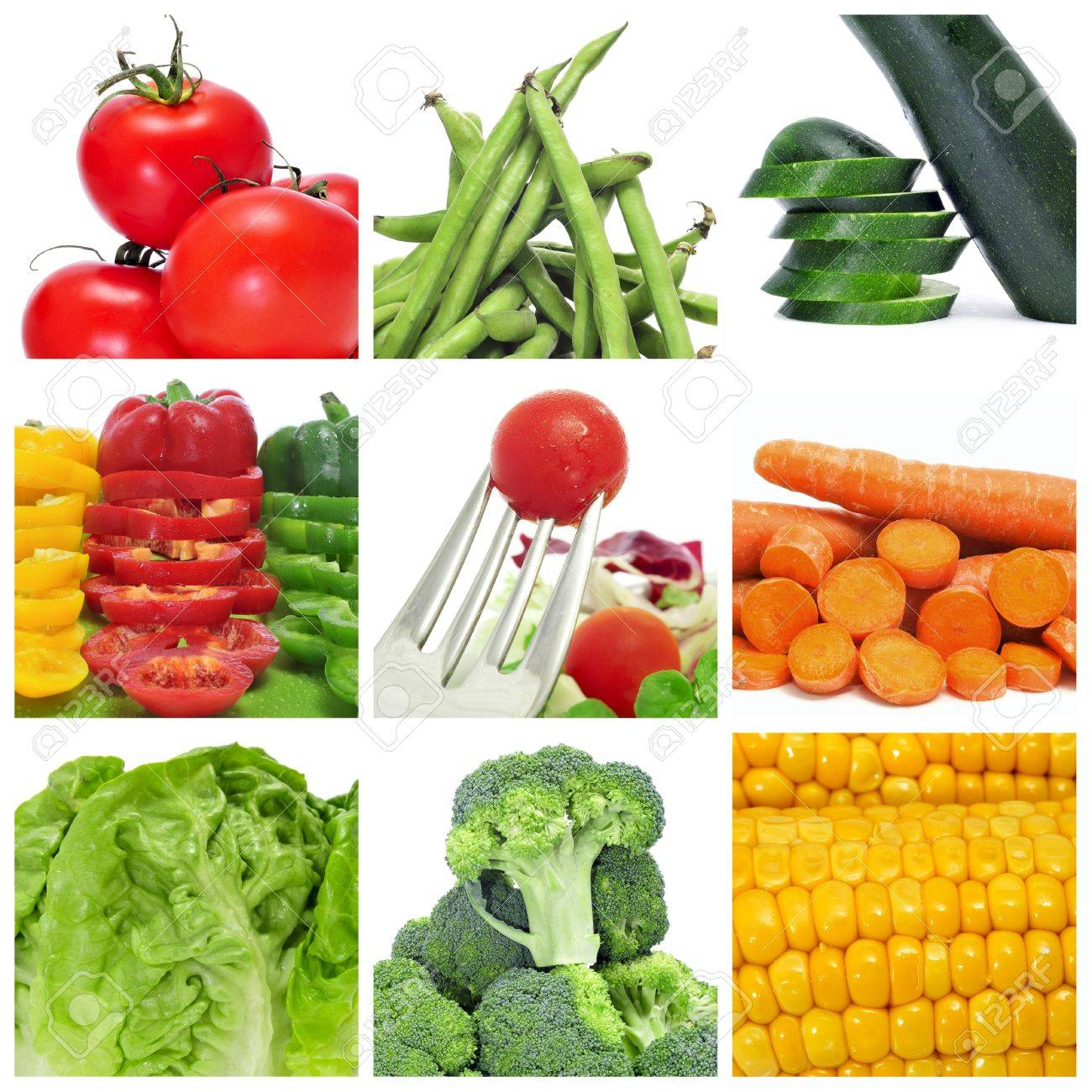 a collage of nine pictures of different vegetables Stock Photo - 12893869