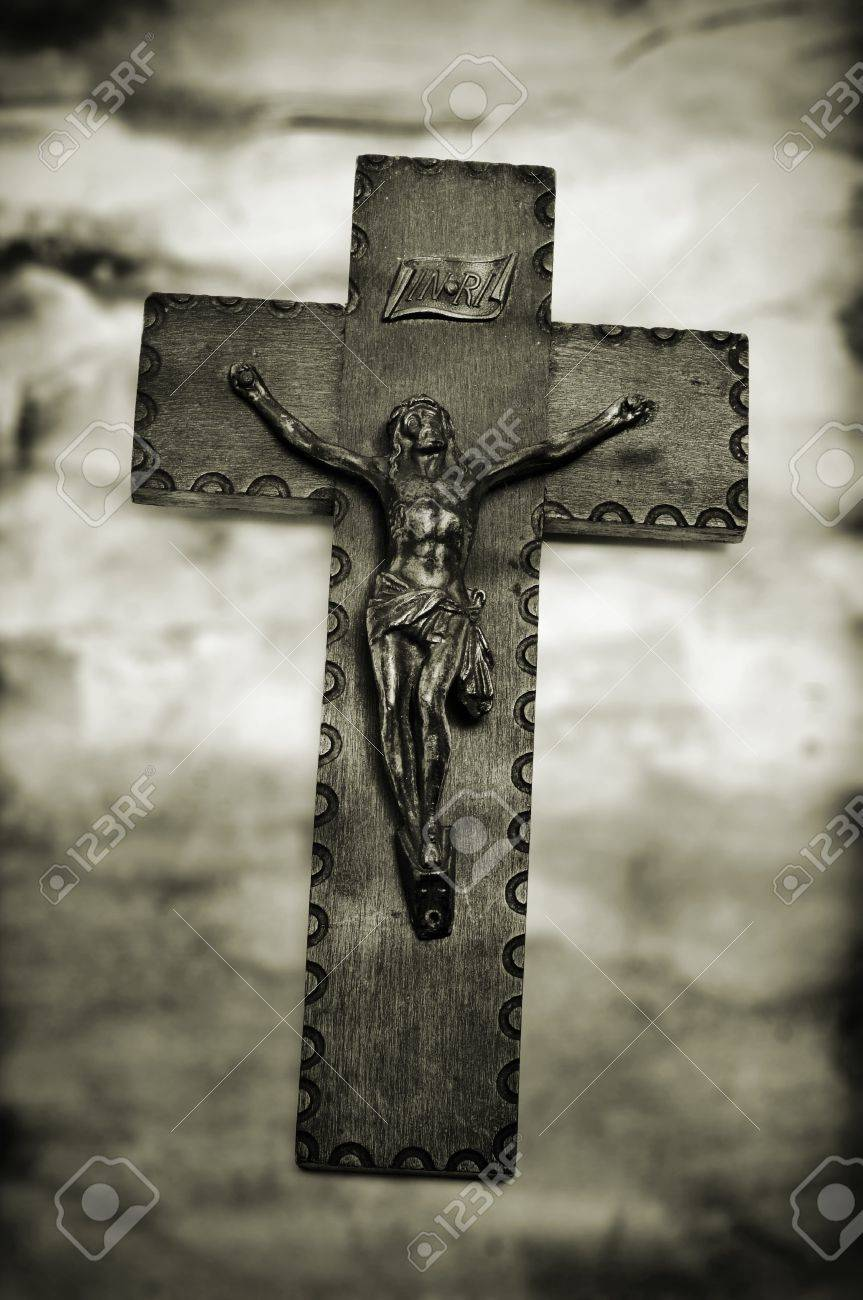 vintage background with the figure of jesus christ in the holy
