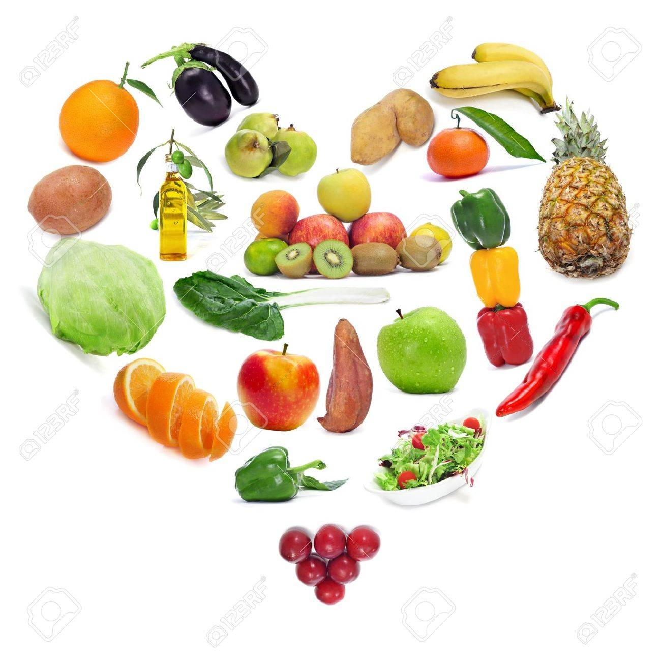 El Amor Por Los Frutos De Alimentos Saludables Y Verduras Que Forman