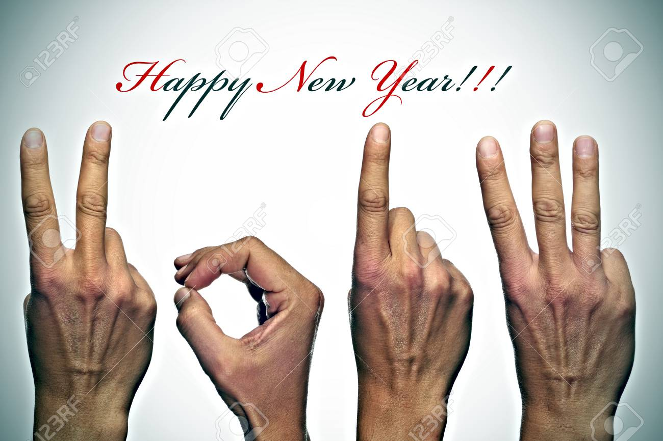 happy new year with hands forming number 2013 Stock Photo - 14741010